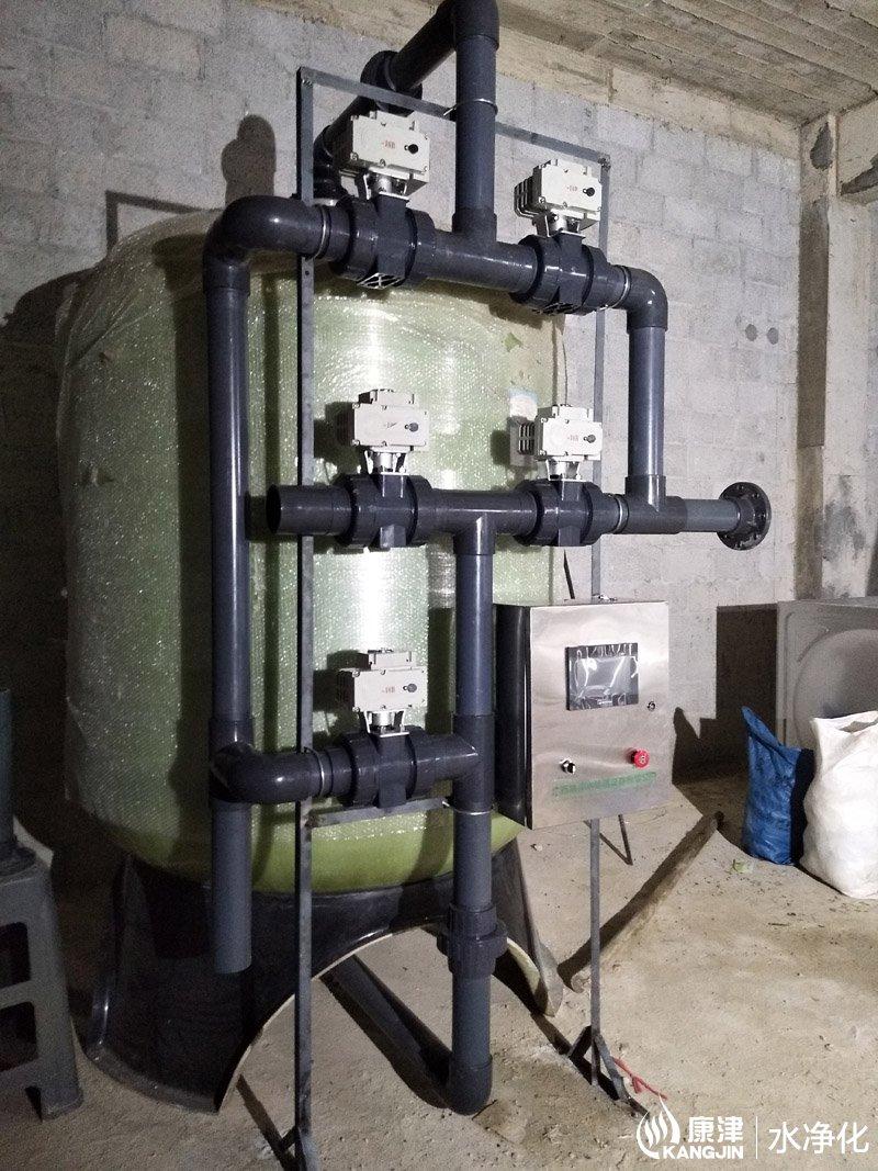 水净化器_农村净化水设备 35m³/小时,多介质净化水设备,井水净化器 压力式 ...