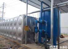 多介质过滤器,石英砂过滤器,多阀过滤ManBetX客户端 每小时50吨