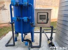 压力式一体化净水器,石英砂过滤器,井水净化ManBetX客户端 全自动压力式净水器